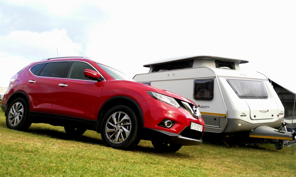The X-Trail proved to be proficient at towing and arrived at the campsite in good time.