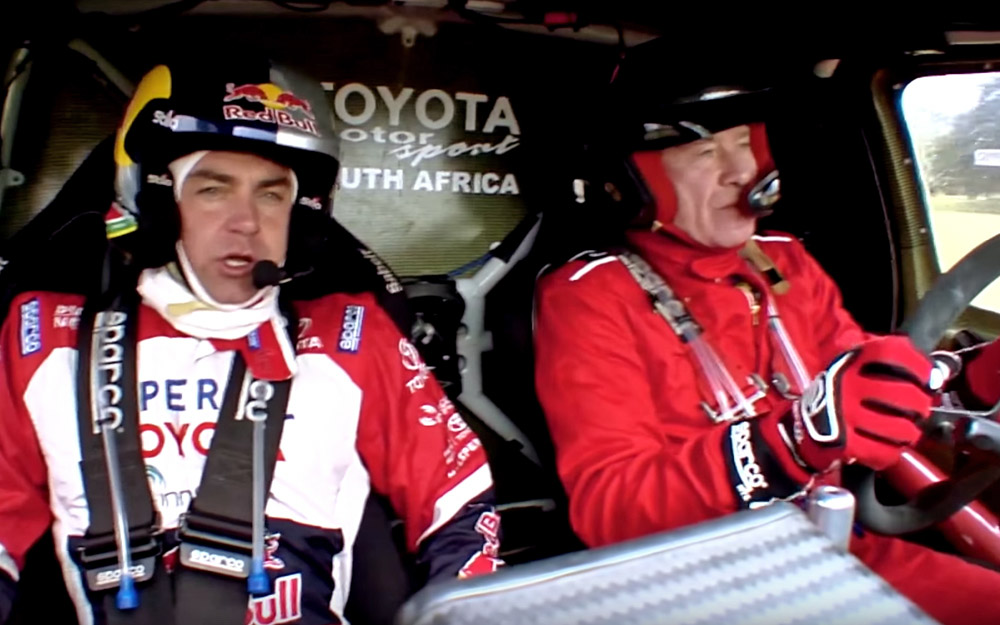 Giniel de Villiers and Tiff Needell