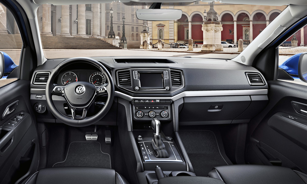 The interior of the facelifted Volkswagen Amarok.
