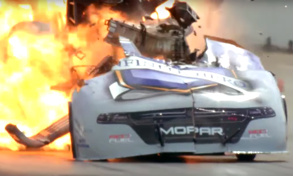 Dragster explosion