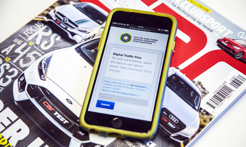 City of Cape Town traffic SMS