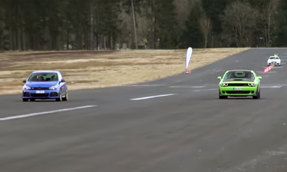 Volkswagen Golf R vs. Dodge Challenger SRT Hellcat