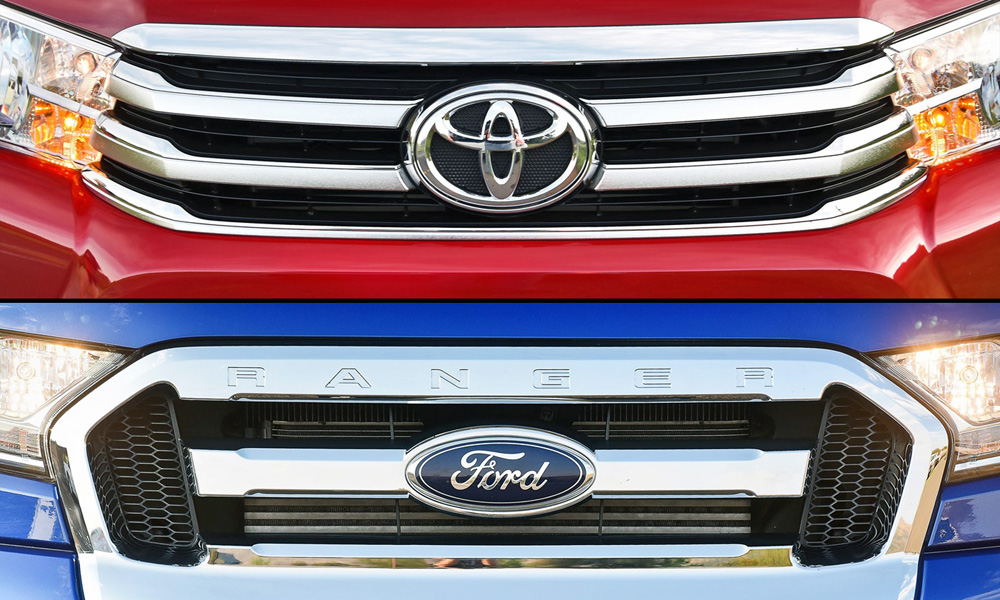 Toyota Hilux and Ford Ranger, best-selling bakkies