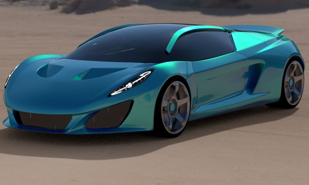 Keating Berus teased as a 370 km/h supercar.