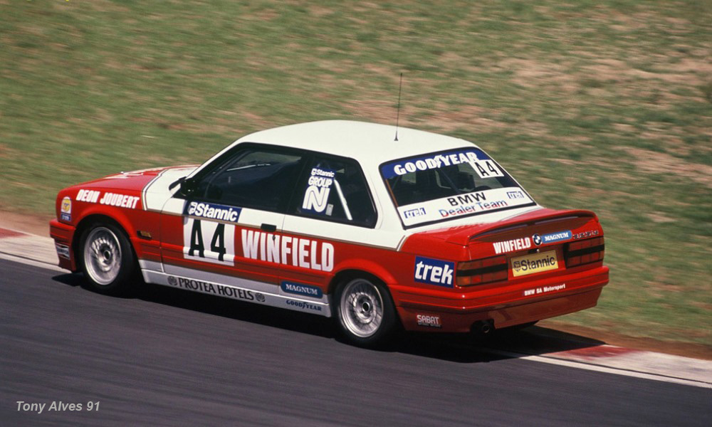 The Winfield BMW 325iS campaigned by Deon Joubert (image: Tony Alves)
