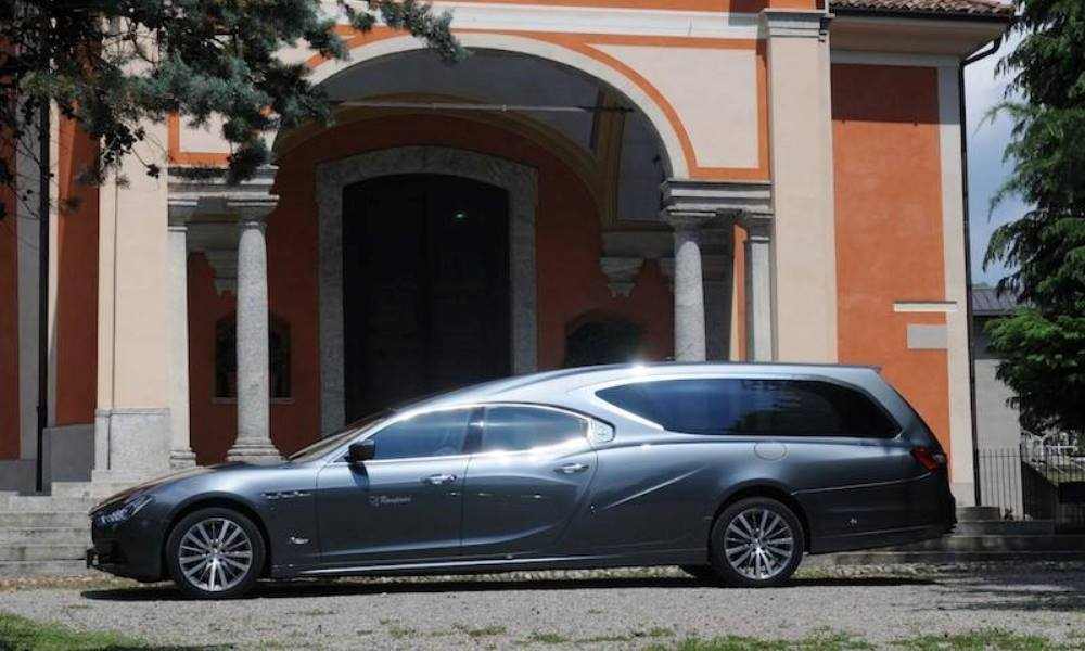 This hearse gives you the opportunity to go out in style.