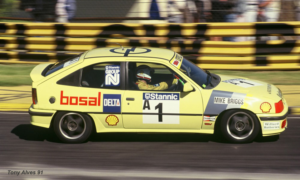 The all-conquering Opel GSI 16v S driven by Mike Briggs (image: Tony Alves)