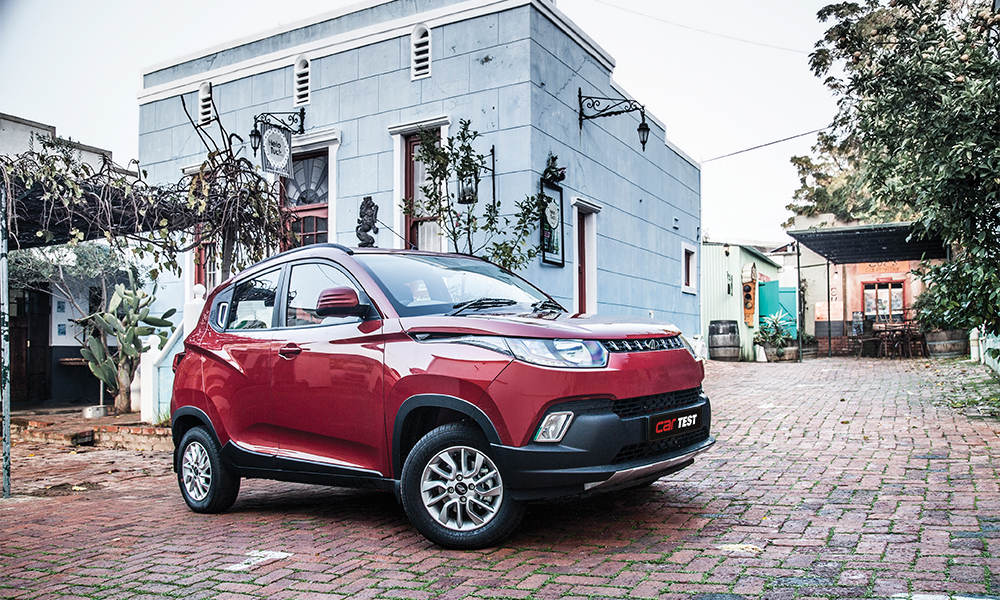 The exterior design of the Mahindra KUV100 is downright quirky.