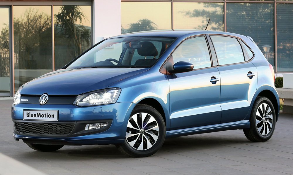 Volkswagen Polo BlueMotion, one of the most fuel-efficient cars in SA.