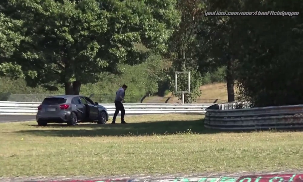 VIDEO: A45 passenger throws up on Nurburgring