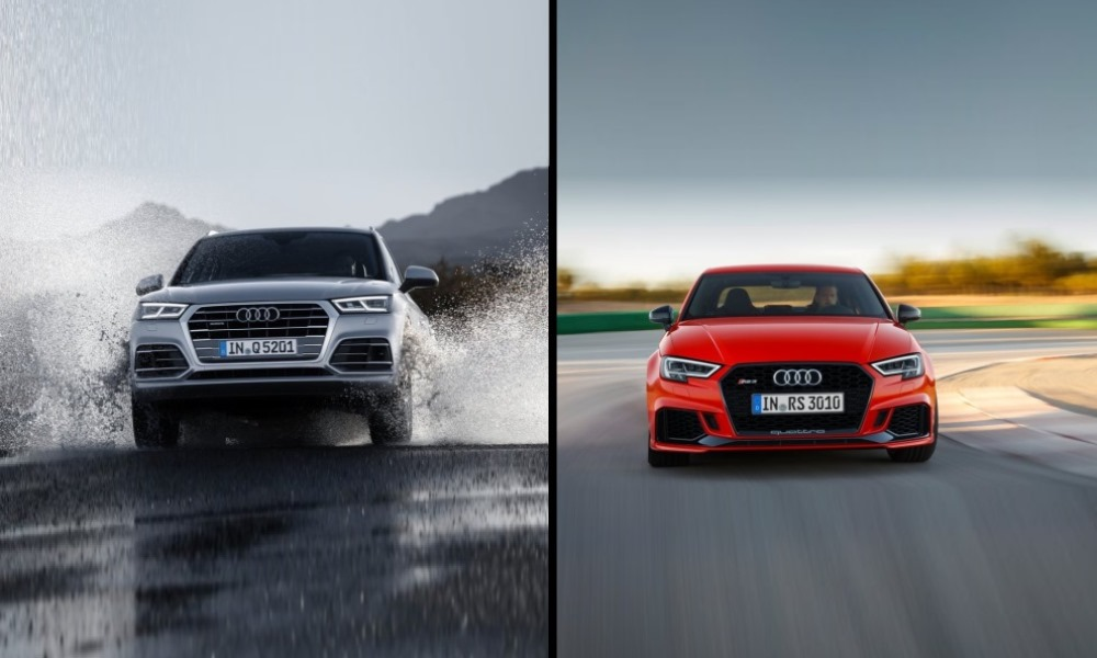 Audi Q5 and RS3 sedan revealed.