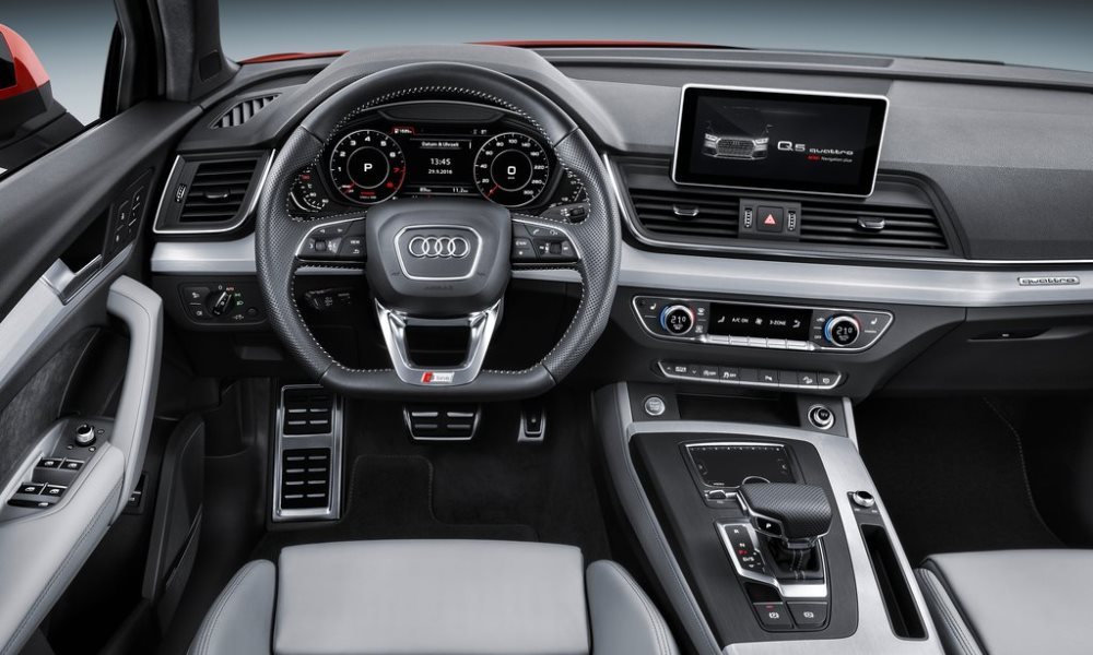 The Q5 gains some interesting equipment including a haptic feedback infotainment control.
