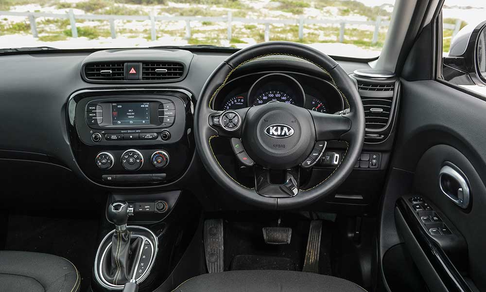 Subtle quirky touches and rock-solid build mark out the cabin in the Kia.