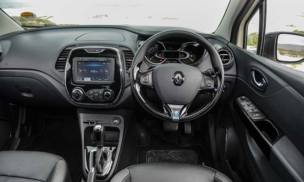The cabin of the Captur is stylish, but fit and finish are not great.