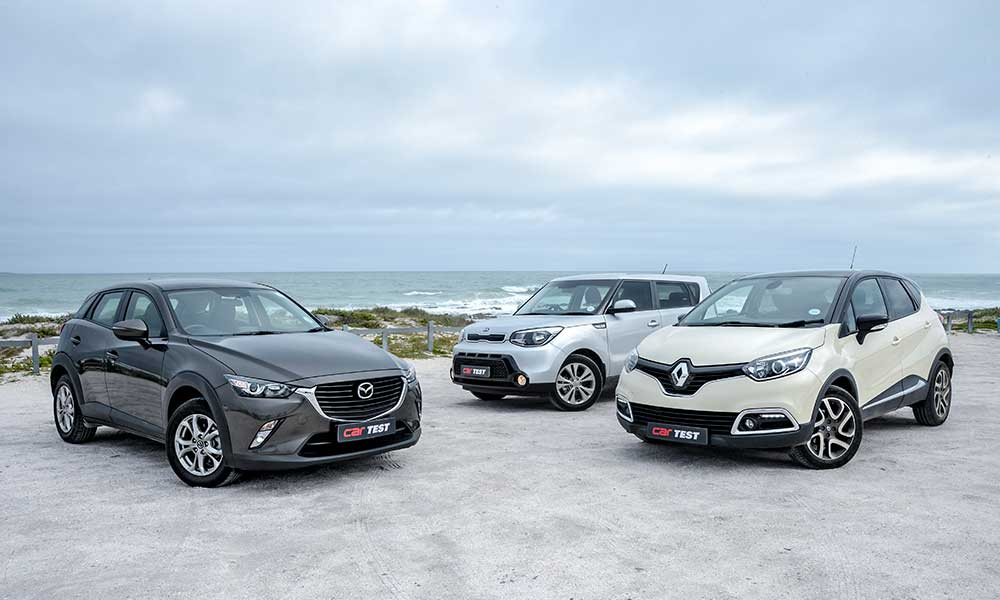 The CX-3 is car-like, the Soul mimics an SUV, and the Captur is somewhere in between.
