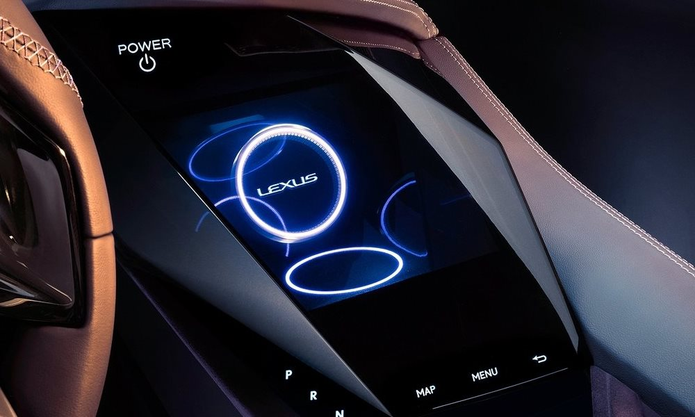 This hologram represents the new infotainment direction for Lexus.