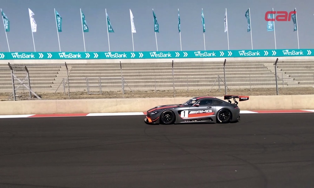 Mercedes-AMG GT3 hot lap with Coulthard at Kyalami