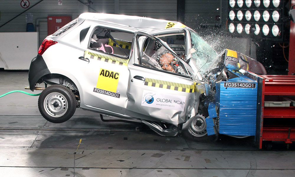 Datsun GO Global NCAP crash