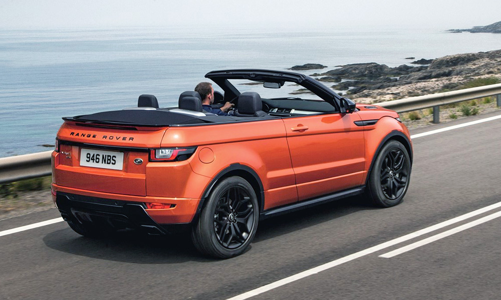 here 39 s how much the evoque convertible will cost car magazine. Black Bedroom Furniture Sets. Home Design Ideas
