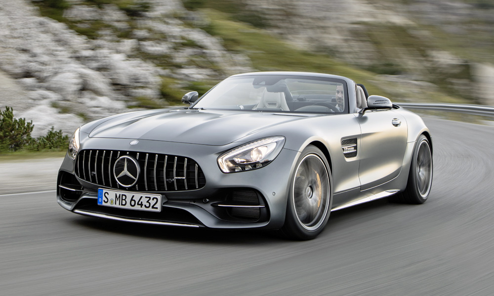 This is the new, 410 kW Mercedes-AMG GT C Roadster...