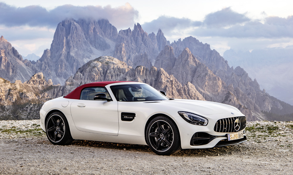 The standard Mercedes-AMG GT Roadster makes 350 kW.