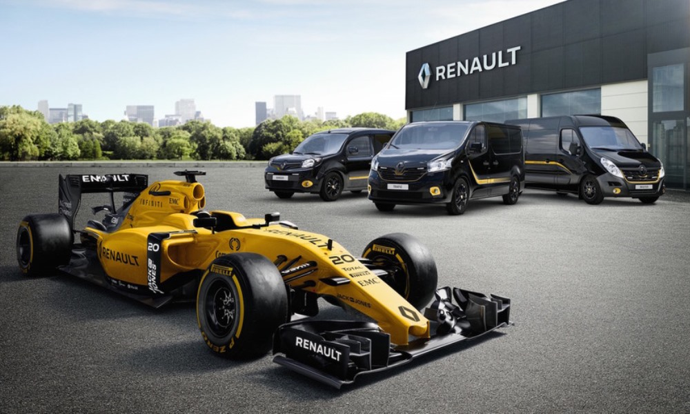 You can have Renault LCVs in F1 trim.
