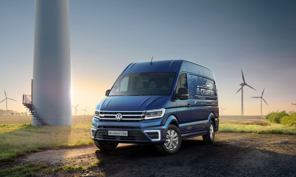 VW set to release fully electric e-Crafter next year.