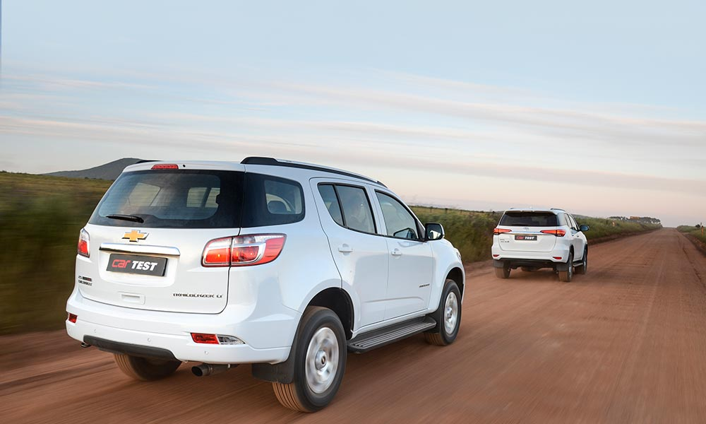 The Trailblazer feels solid, but the Fortuner is the more nimble of the two.