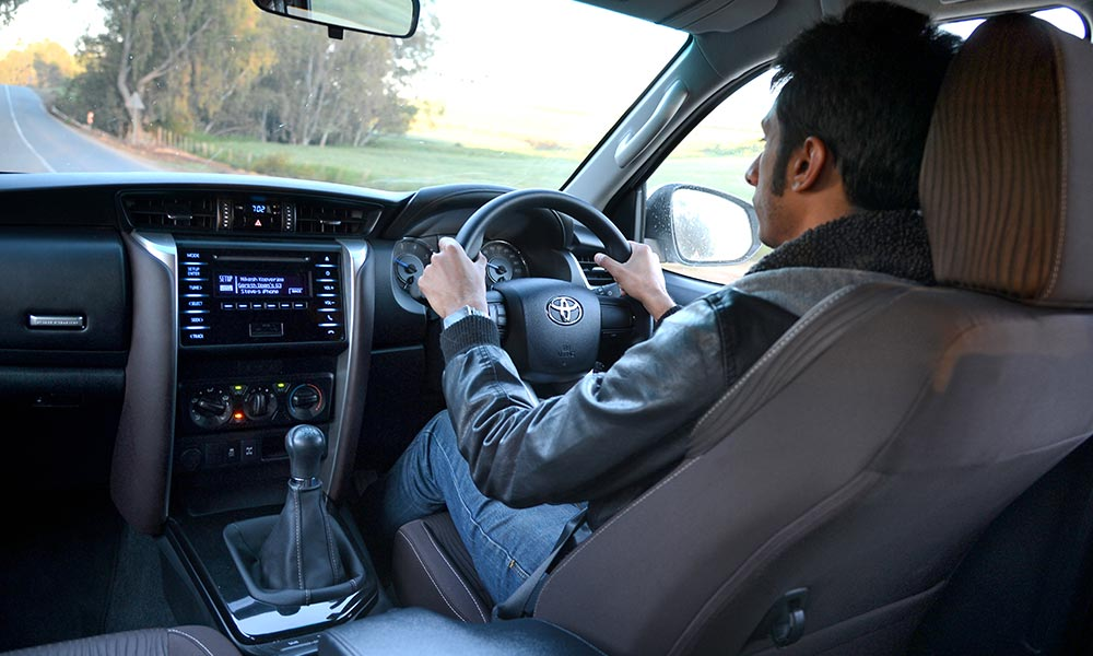 The driving position in the Fortuner is just about spot-on.
