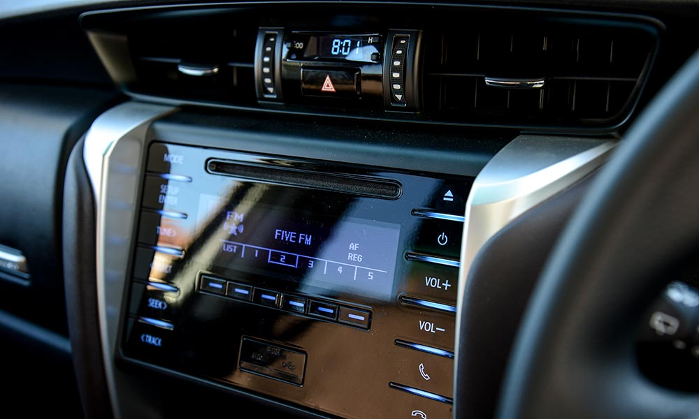 The infotainment system in the Toyota is fiddly by comparison.