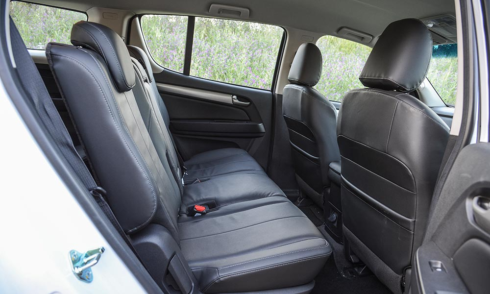 The Trailblazer has a little less room in the rear.