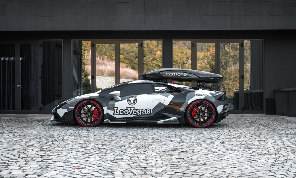 Jon Olsson reveals Huracan with 600 kW and a roof box