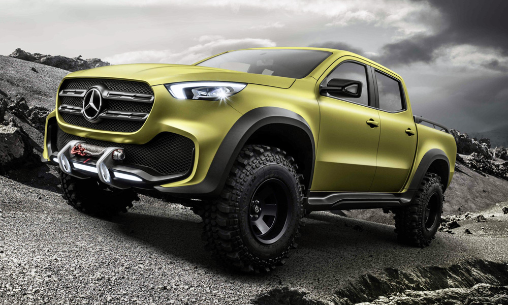 The off-road version of the Mercedes-Benz Concept X-Class.