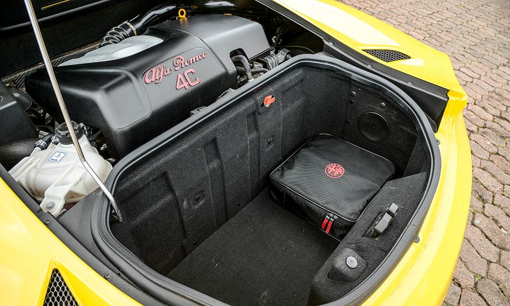 The small boot is reduced further when the roof is stowed.