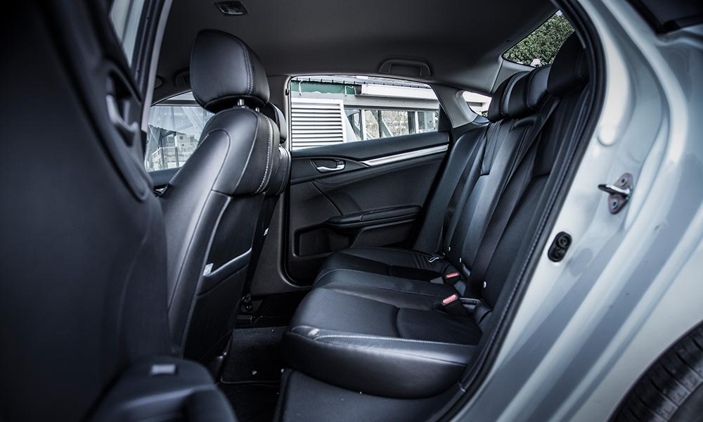 The rear bench offers close to D-segment-size room.