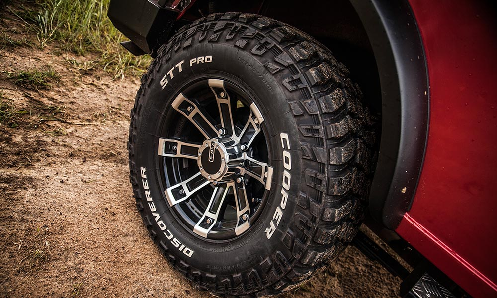 The Cooper tyres, too, are optional, and further improve off-road ability.