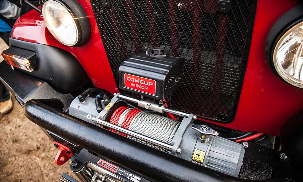 This winch is an optional extra, at the cost of a little over R4 000.