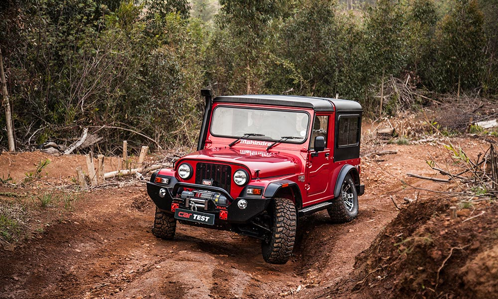The Mahindra Thar is an inexpensive way to bag yourself 4x4 with low-range.