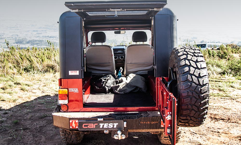 The rear area is best used as a luggage bay (rather than for transporting passengers).