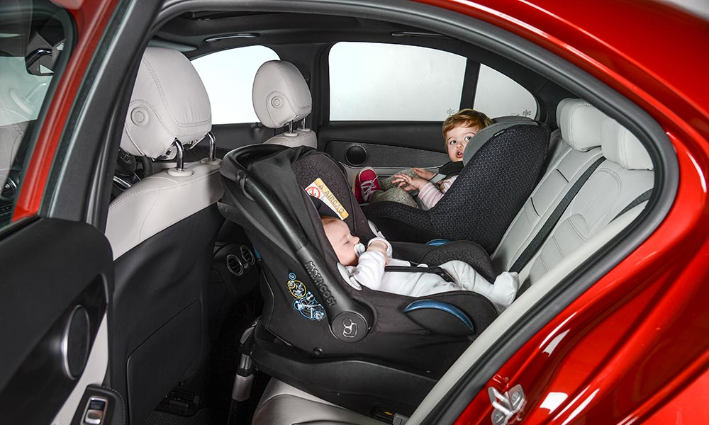 The C-Class can take two Isofix-mounted child seats in the back.