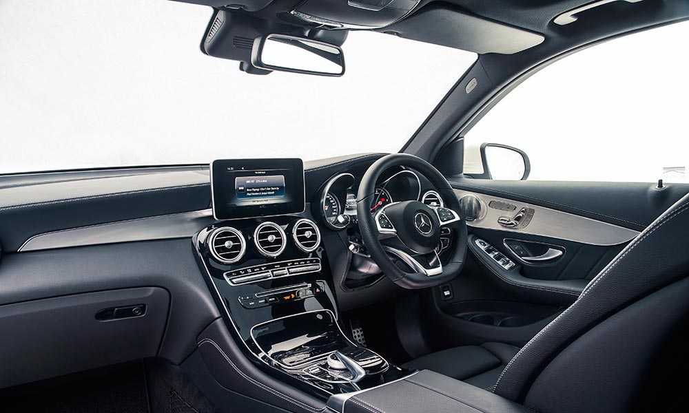 The low-slung seating position in the C-Class.