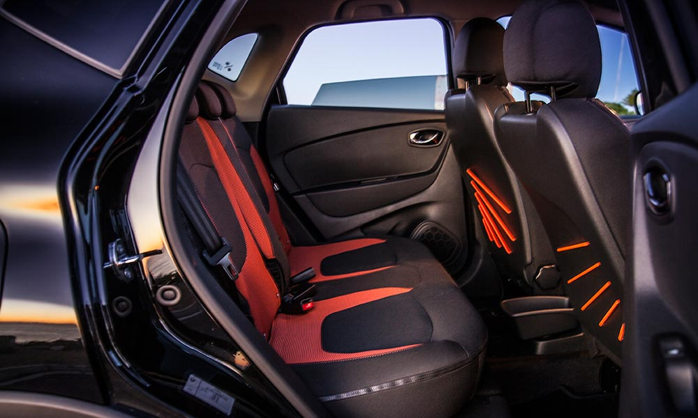 The sliding rear bench frees up loads of legroom.