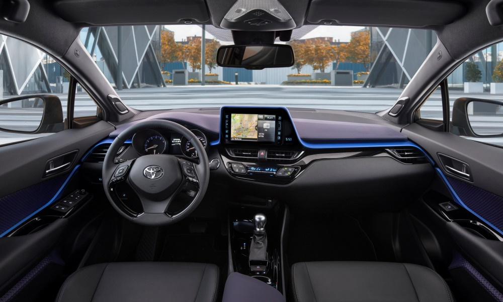 The interior of one of the high-spec models.