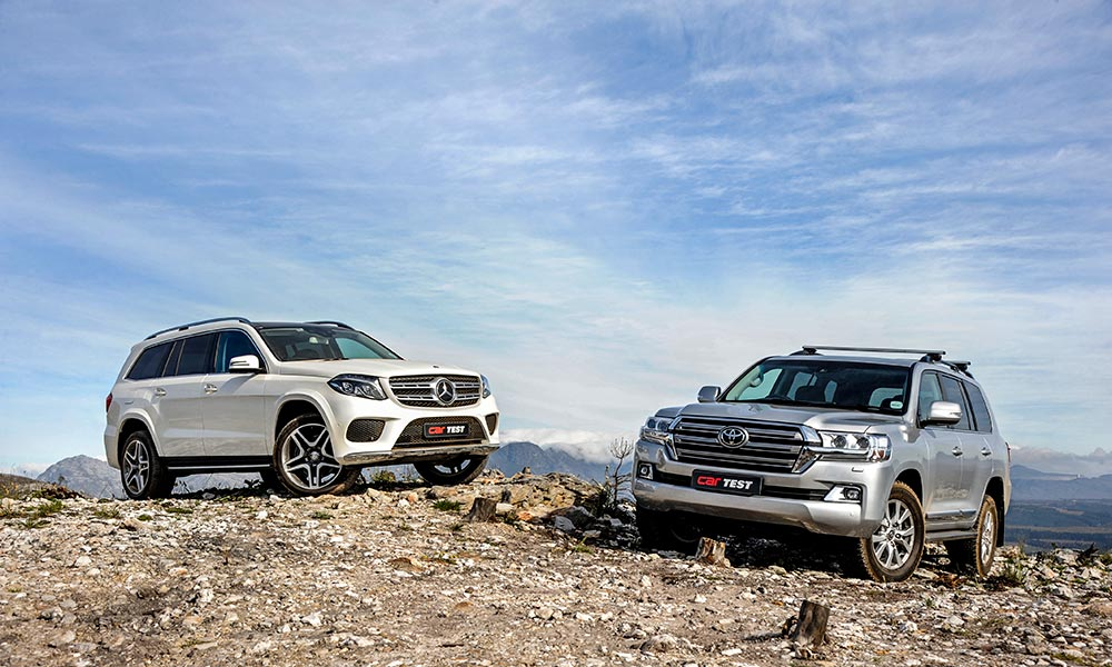 Toyota Land Cruiser 200 and Mercedes-Benz GLS500