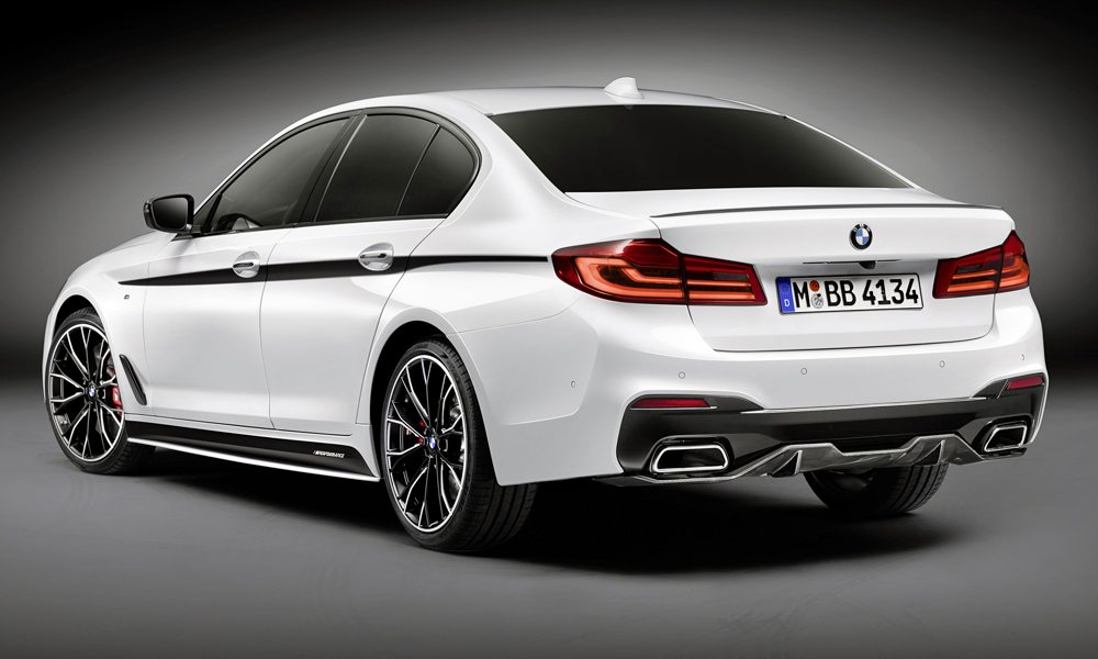 BMW 5 Series with M Performance parts