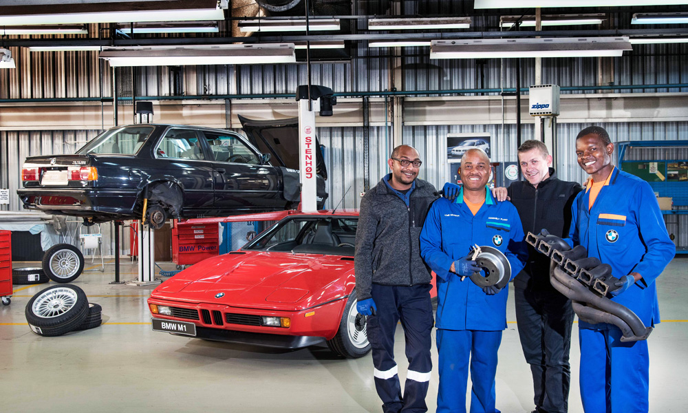 Press vehicle technicians and two apprentices carried out the work.