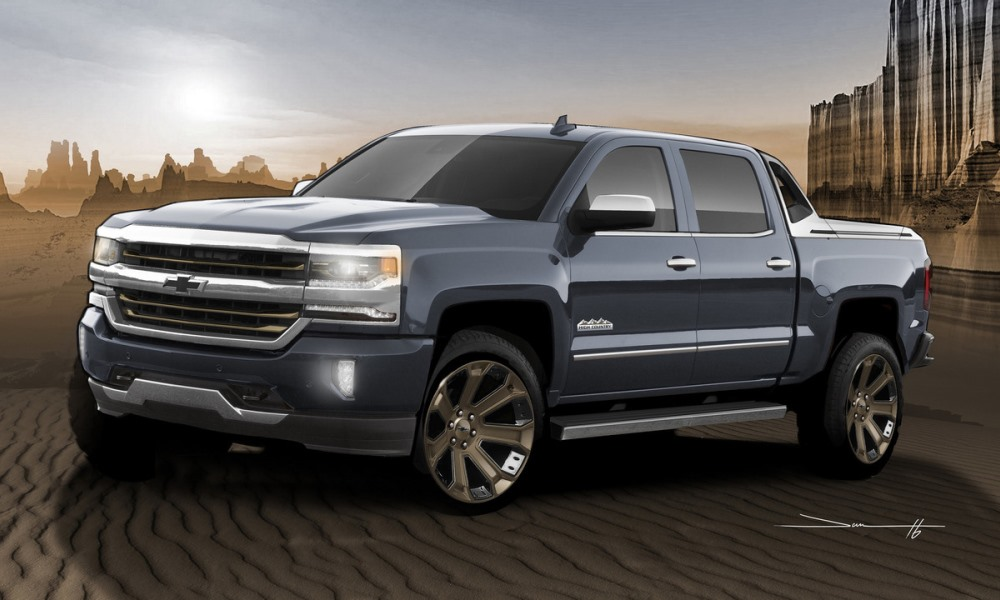 Silverado SEMA Concepts kitted for snow and sand