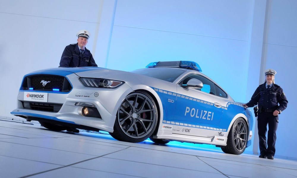 German tuner preps Mustang for police