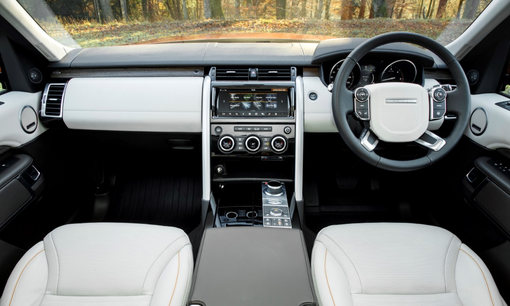 Interior borrows from Range Rover and is classy in HSE spec.