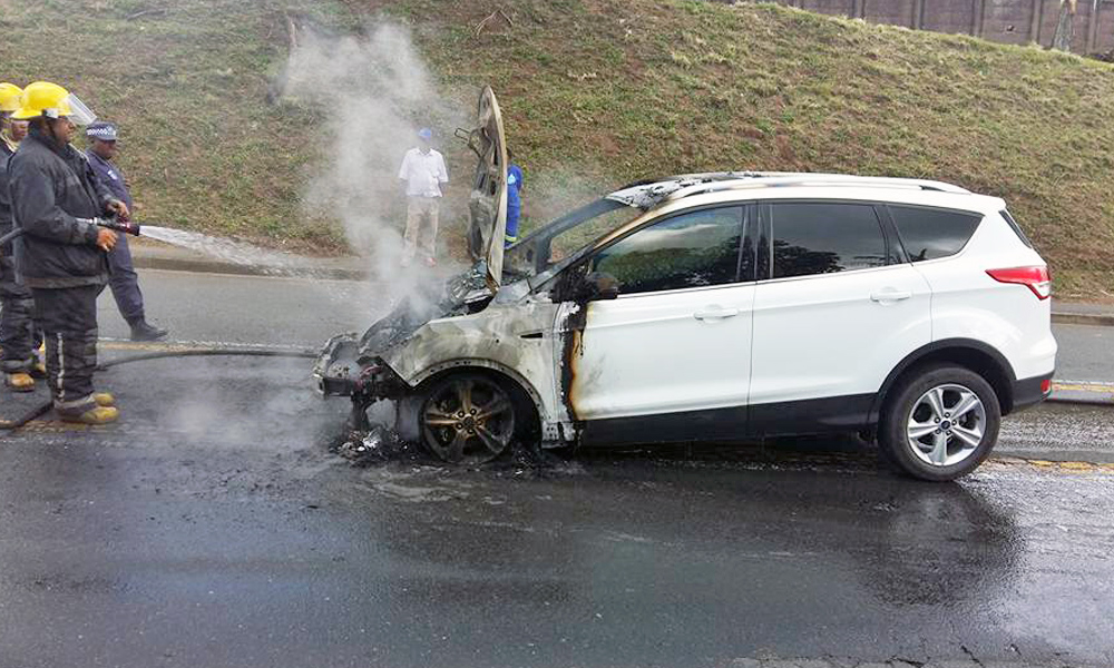 Ford Kuga fire